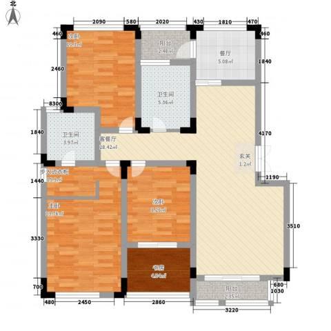 桑达园五期3室2厅2卫0厨128.00㎡户型图