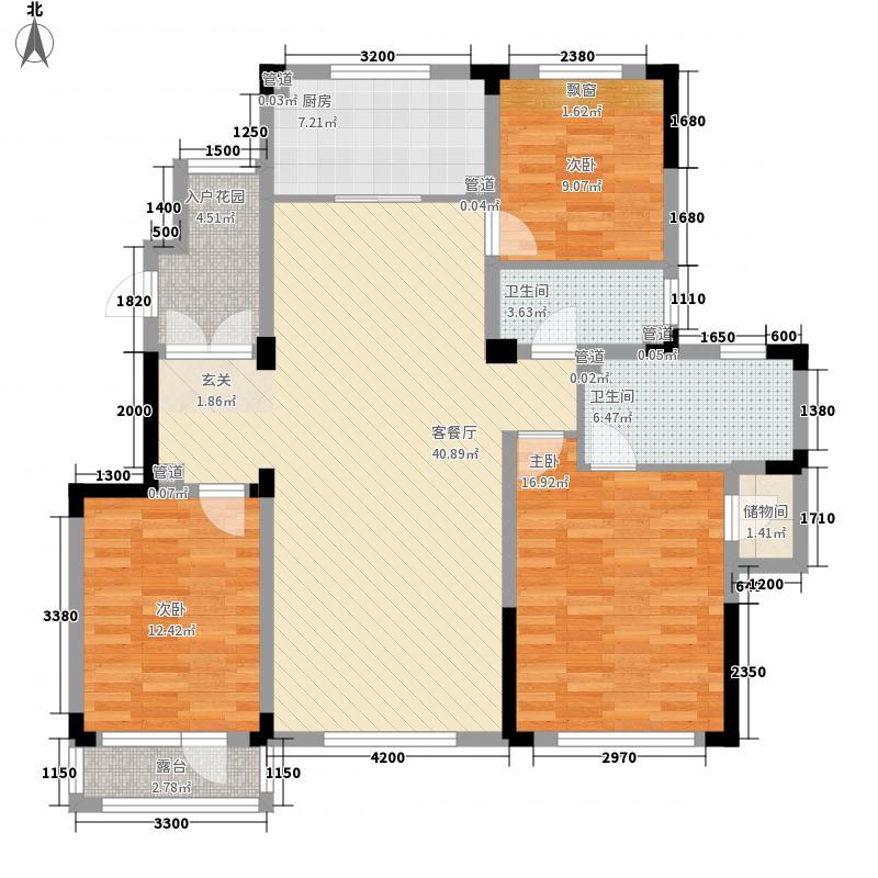 卓尔・沈阳客厅12.00㎡K户型3室2厅2卫