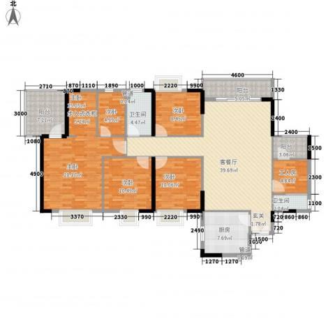 鼎盛时代广场5室1厅2卫1厨186.00㎡户型图