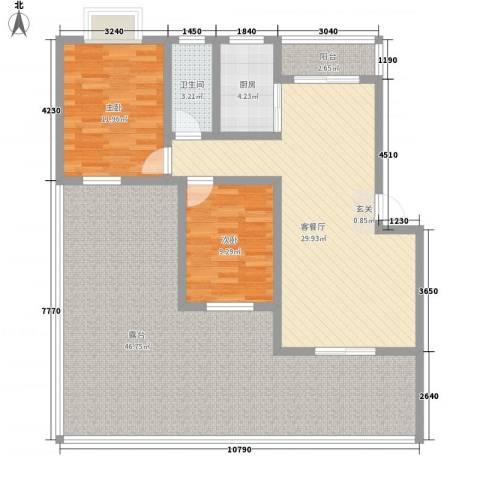 永江大厦(凤岗)2室1厅1卫1厨153.00㎡户型图