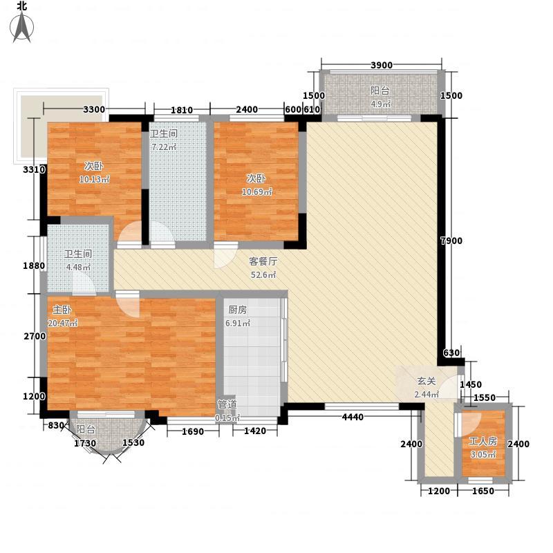 临江阁小区9户型3室2厅2卫1厨