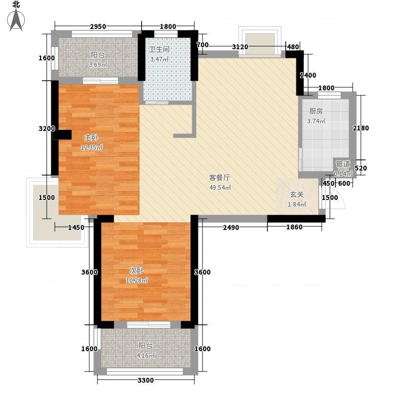 纽宾凯汉city国际社区8.81㎡15号楼A3户型2室2厅1卫1厨
