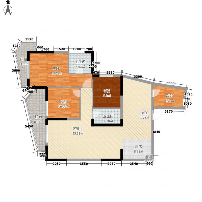 雁和・蓝山湾4室1厅2卫0厨119.97㎡户型图