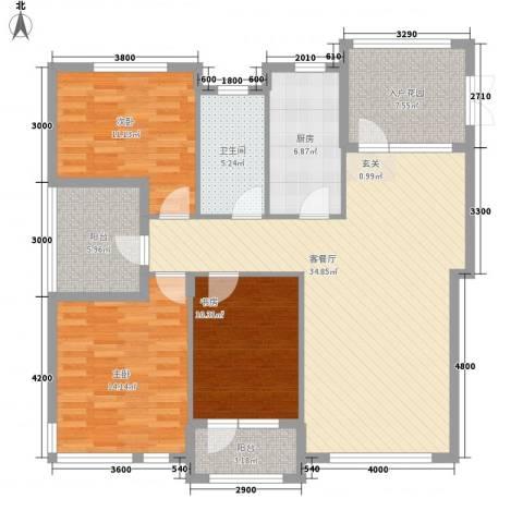 宏昌公寓3室1厅1卫1厨140.00㎡户型图