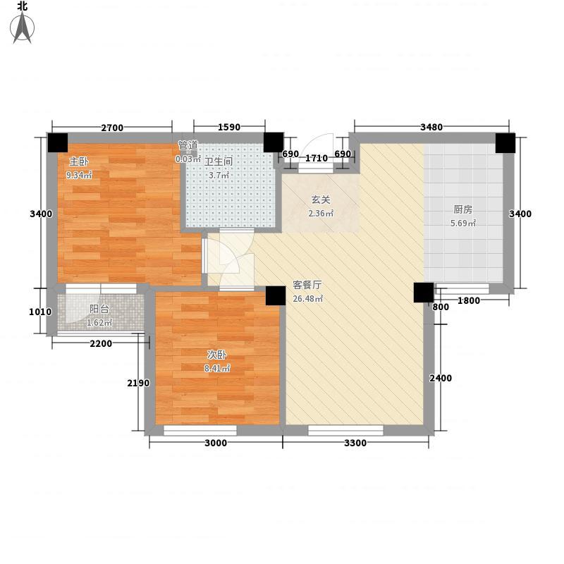 亿诚御景湾2室1厅1卫0厨67.00㎡户型图