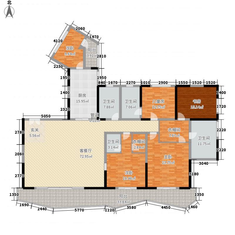 雁和・蓝山湾5室1厅4卫1厨246.96㎡户型图
