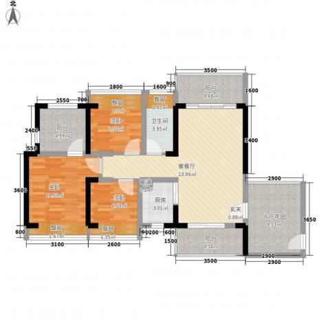 畔山名居・特区青年3室1厅1卫1厨116.00㎡户型图