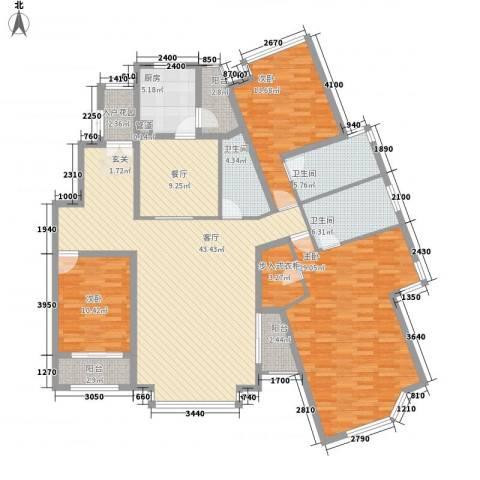 曼哈顿国际庄园3室2厅3卫1厨201.00㎡户型图