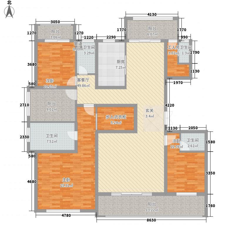 姑苏公馆户型图B户型约226平米