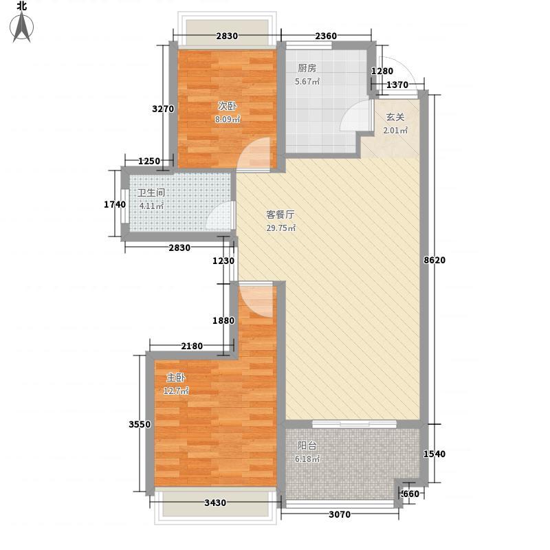 路劲・诺丁山4.12㎡G4户型3室2厅1卫1厨