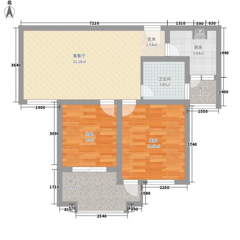 格兰艺堡85.00㎡格兰艺堡户型图11#甲022室2厅1卫1厨户型2室2厅1卫1厨