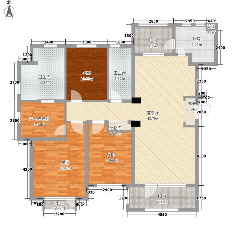 普罗旺斯Ⅱ期157.10㎡12#楼L户型3室2厅2卫1厨