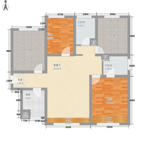 广昌小区2室1厅2卫1厨129.00㎡户型图