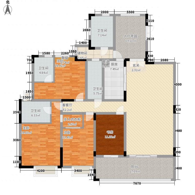 豪园大厦225.00㎡户型6室