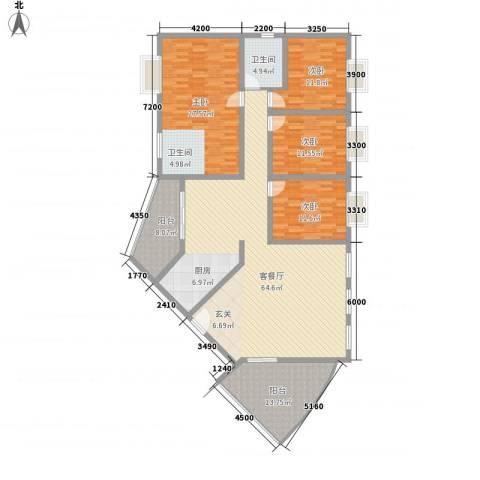 十里江南4室1厅1卫0厨178.00㎡户型图