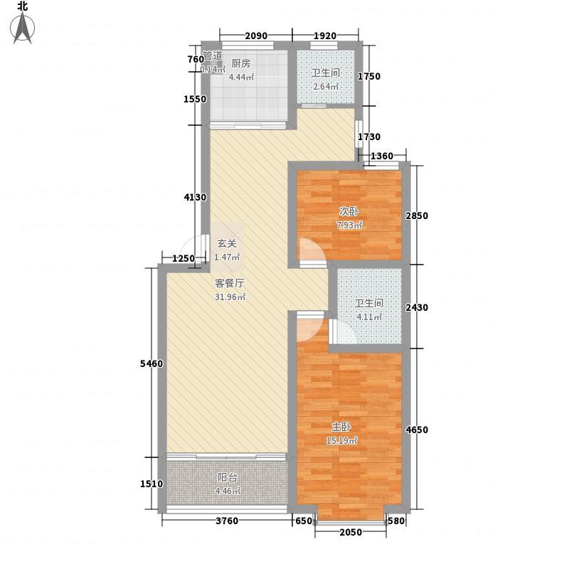 世纪城龙晖苑88.00㎡世纪城龙晖苑2室户型2室