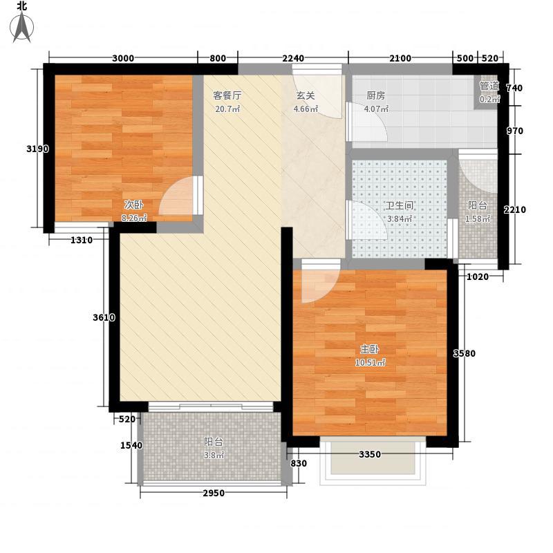 景隆现代城76.94㎡景隆现代城户型图B户型2室2厅1卫1厨户型2室2厅1卫1厨