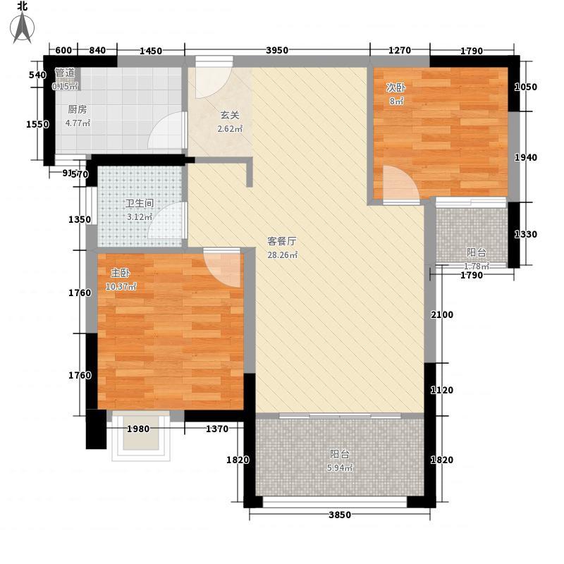 领城公园18572室1厅1卫1厨89.00㎡户型图