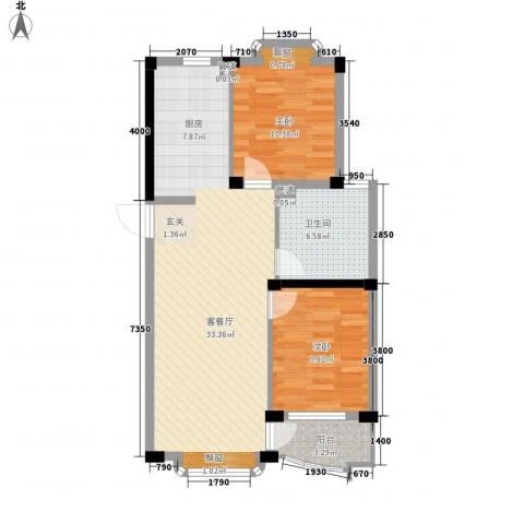 深蓝半英里2室1厅1卫0厨90.00㎡户型图