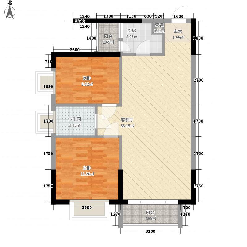 东江豪苑92.26㎡东江豪苑2座02-09户型2室2厅1卫92.26㎡户型2室2厅1卫