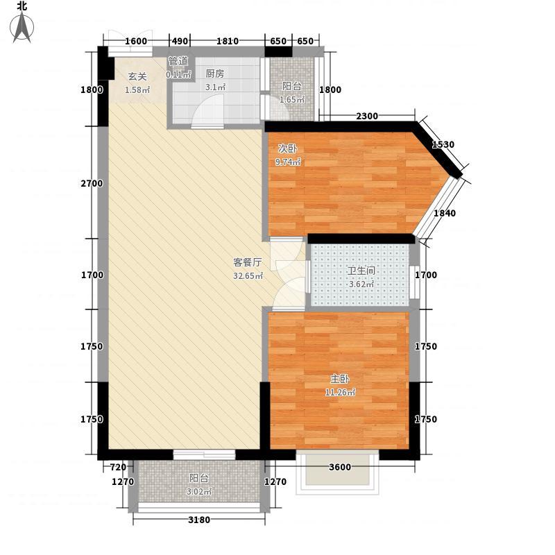 东江豪苑94.67㎡东江豪苑2座03-08户型2室2厅1卫94.67㎡户型2室2厅1卫