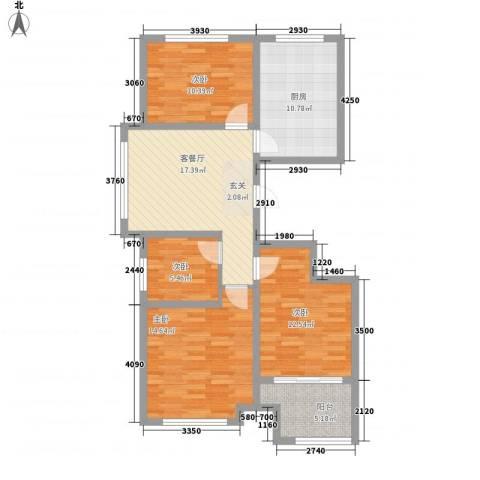 紫金园翡翠花园4室1厅0卫1厨111.00㎡户型图