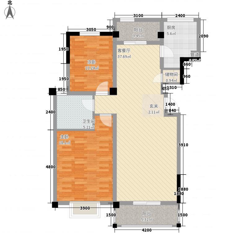 泉山美墅1161955582267户型2室1厅1卫1厨