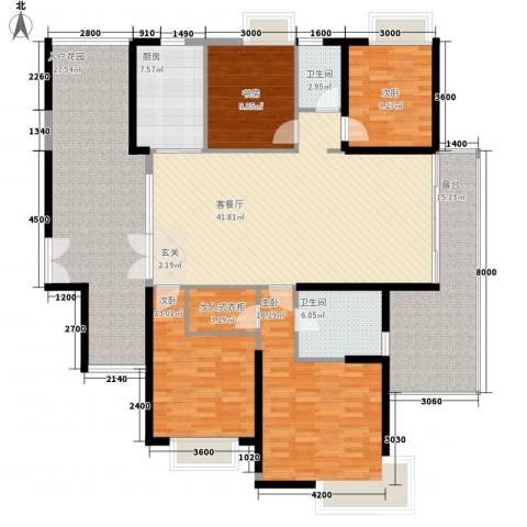 江南一品4室1厅2卫1厨158.00㎡户型图
