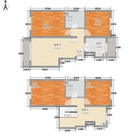 阿曼寓所4室2厅2卫1厨169.00㎡户型图