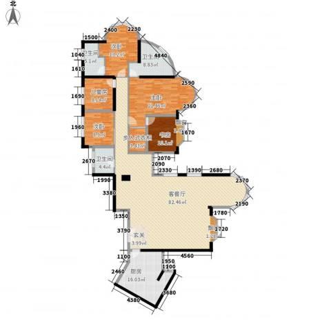君临天下5室1厅3卫1厨253.00㎡户型图