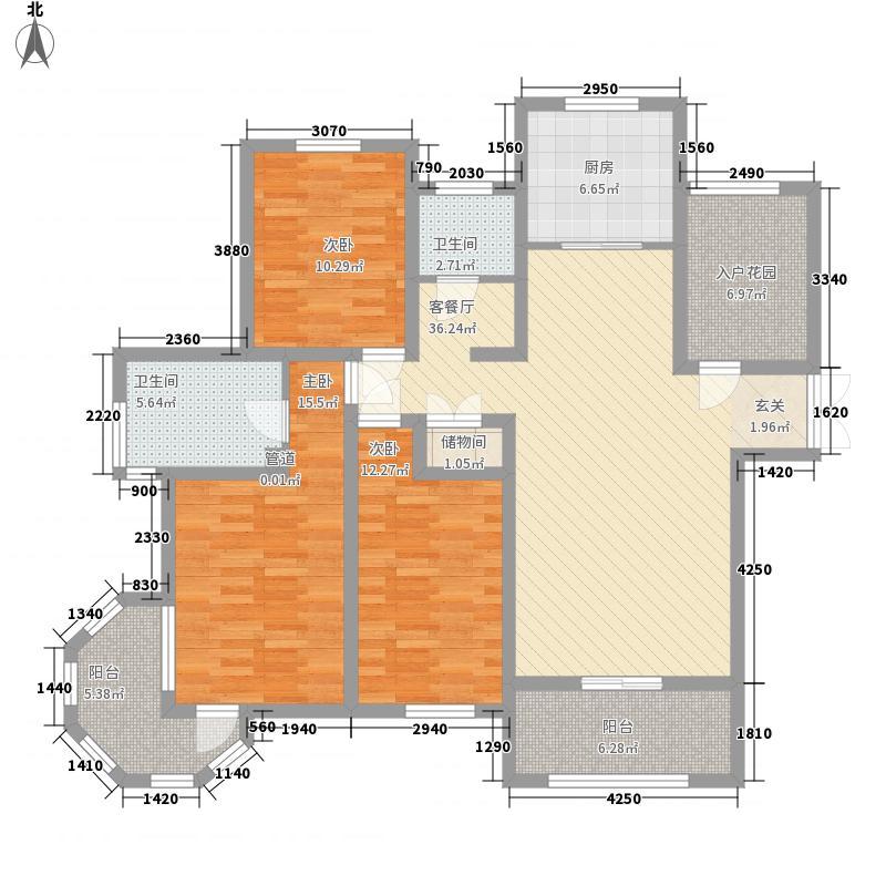 中南世纪星城14.00㎡A2号楼A户型3室2厅2卫1厨
