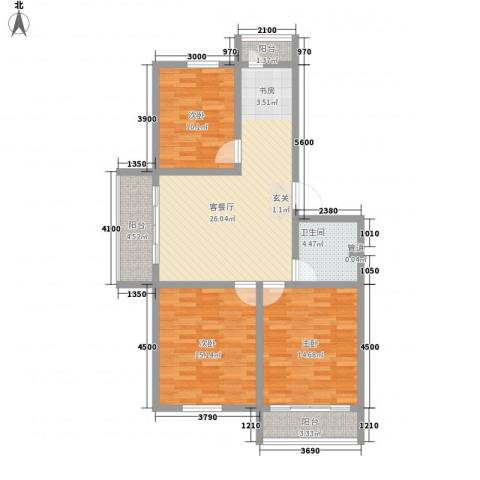 五星小区3室1厅1卫0厨115.00㎡户型图