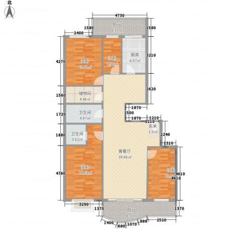 通达世家4室1厅2卫1厨163.00㎡户型图