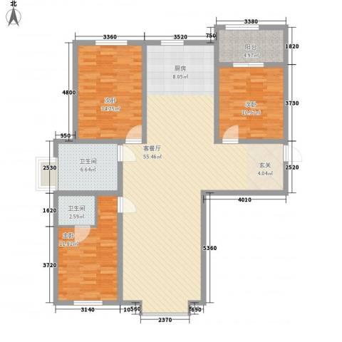 红旗嘉园3室1厅2卫0厨150.00㎡户型图