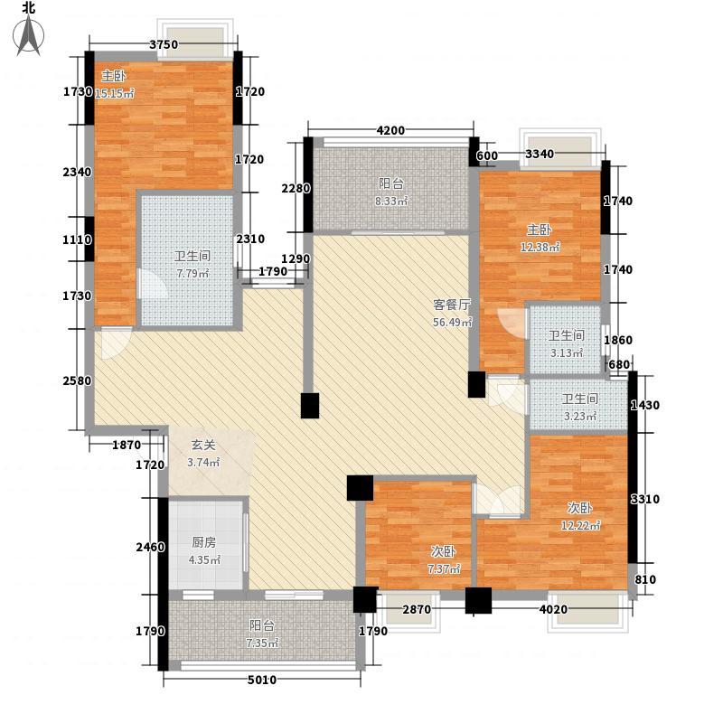 步步高豪庭4室1厅3卫1厨188.00㎡户型图