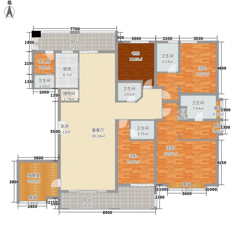 怡佳・天一城27.40㎡1#楼E1户型6室2厅5卫1厨
