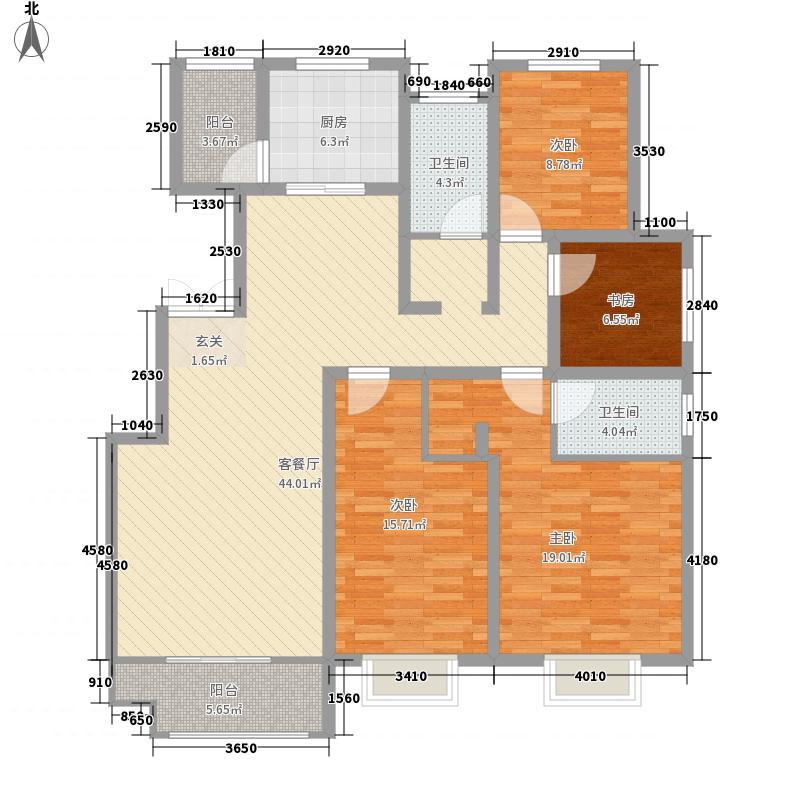 翰林学府16.00㎡10A户型4室2厅2卫1厨