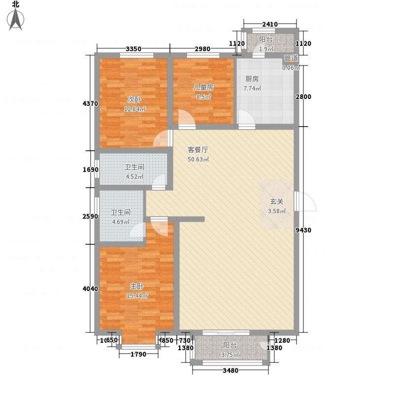 北辰新领地128.97㎡北辰新领地户型图P户型3室2厅2卫1厨户型3室2厅2卫1厨