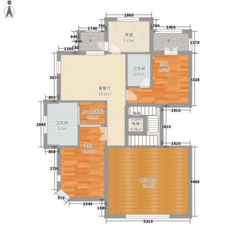 龙隐2室1厅2卫0厨490.00㎡户型图