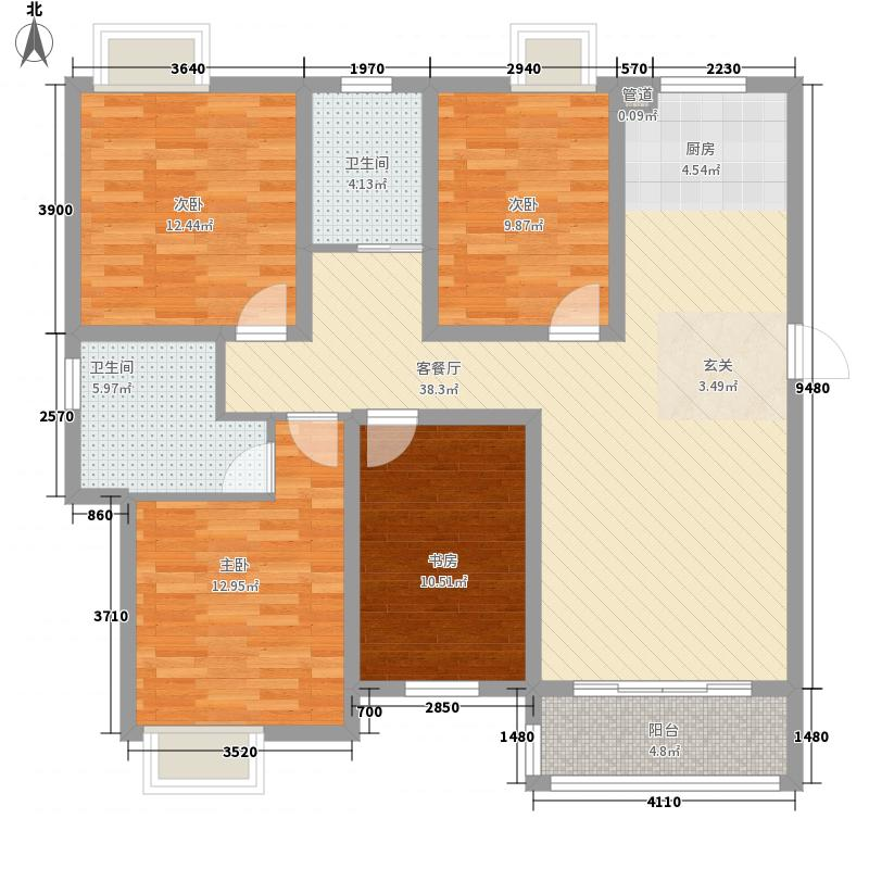 西贝广场4室1厅2卫0厨142.00㎡户型图