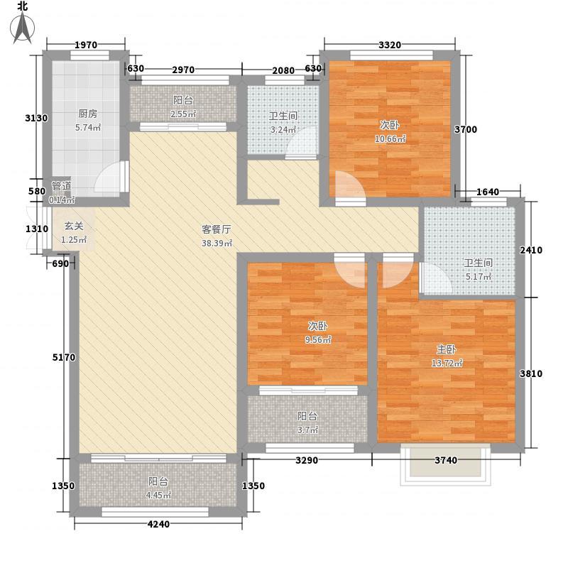 伍�院141.15㎡3号楼4号楼C户型3室2厅2卫1厨