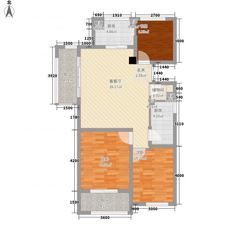 绿城春江明月3室1厅0卫2厨110.00㎡户型图