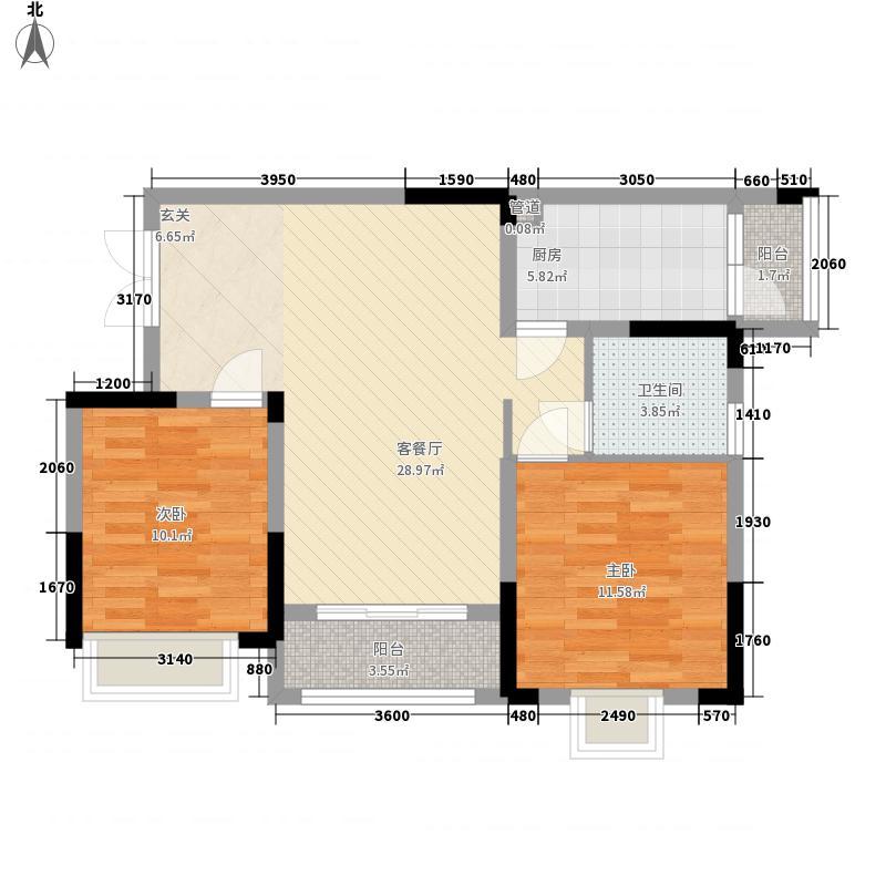 法蓝西�邸枫丹里一期9-13号楼标准层A4户型