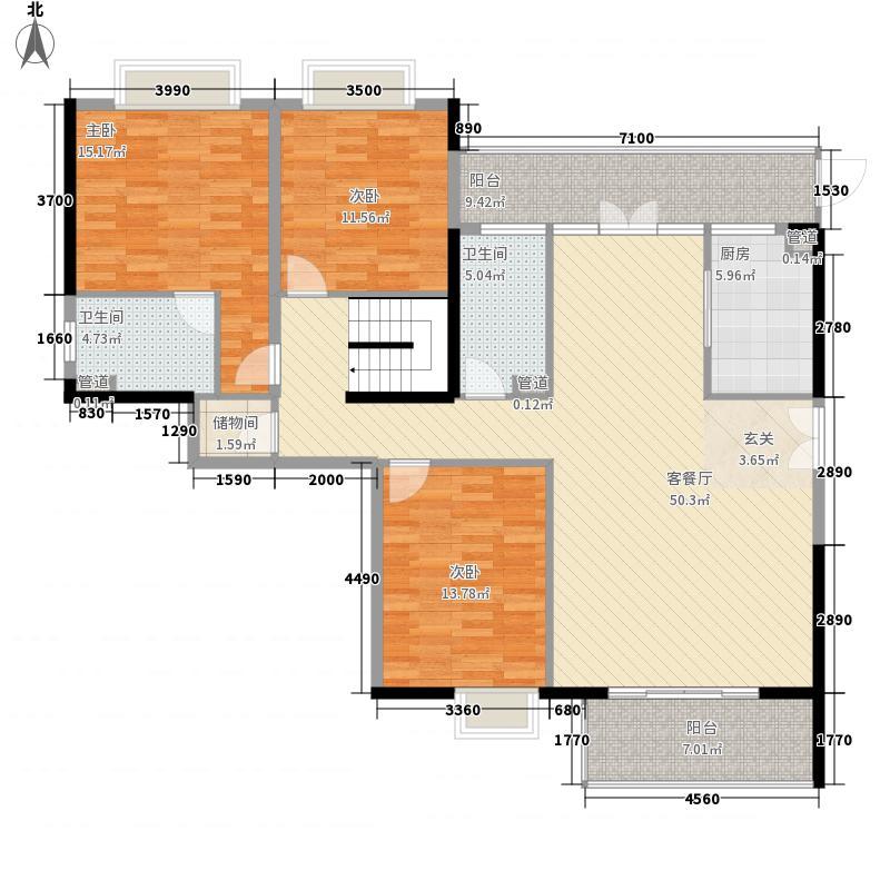上善梧桐苑183.00㎡1栋C2一楼户型4室2厅3卫1厨