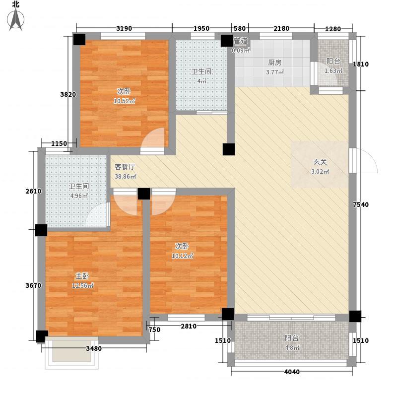 西贝广场3室1厅2卫0厨129.00㎡户型图