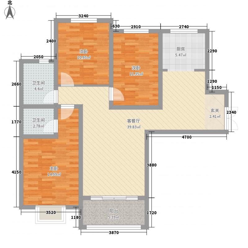 翰林学府3室1厅2卫0厨89.69㎡户型图