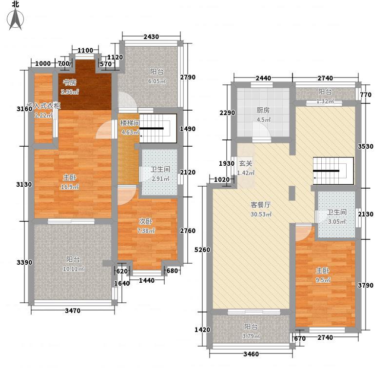 欧陆园150.09㎡欧陆园户型图4室2厅2卫1厨户型10室