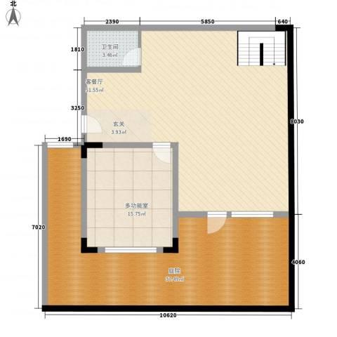 托斯卡纳1厅1卫0厨108.26㎡户型图
