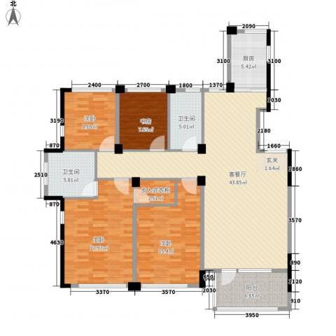 得力浅水湾4室1厅2卫1厨157.00㎡户型图