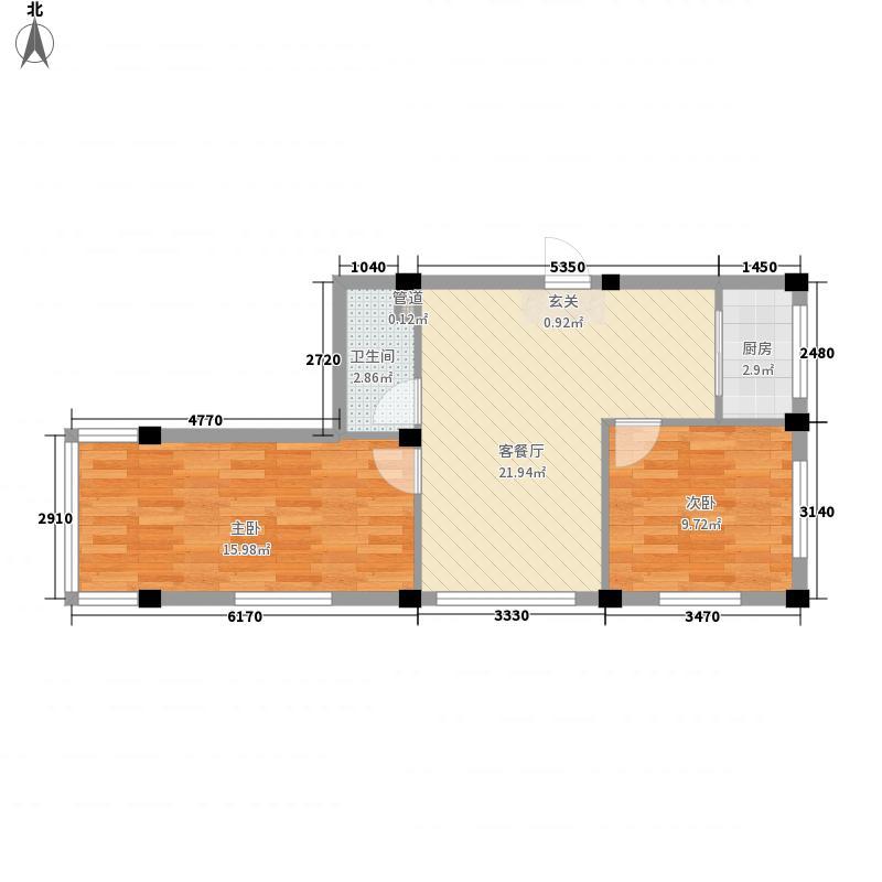 庆军公寓76.33㎡庆军公寓户型图2室1厅1卫1厨户型10室